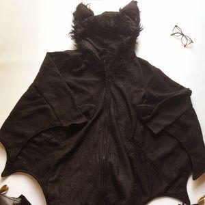 Leg Avenue womens furry hooded bat dress costume